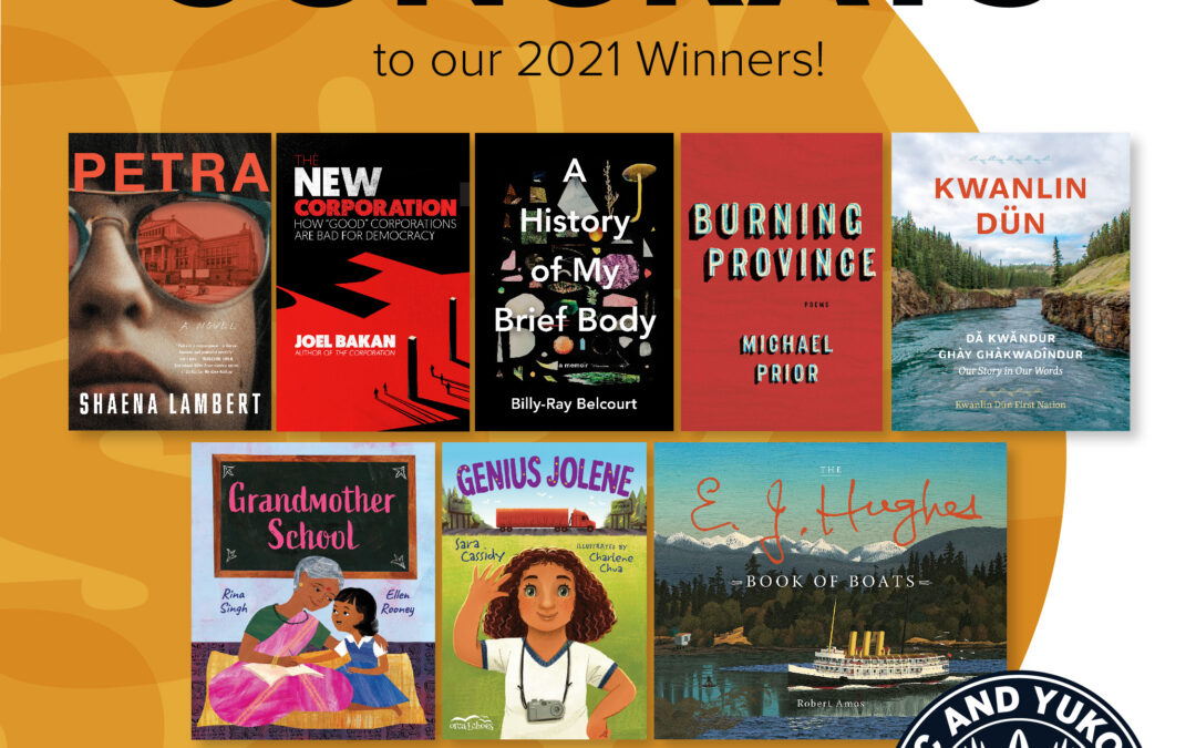 BC and Yukon Book Prizes 2021 Winners Announced